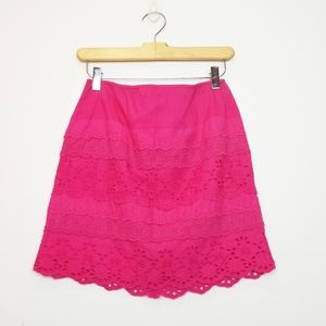 G.H. Bass & Co. Pink Lace Skirt Size 2